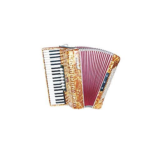 M-zutx Acordeón de piano de 41 teclas, 120 bajos, 3 hileras de primavera Acordeón de...