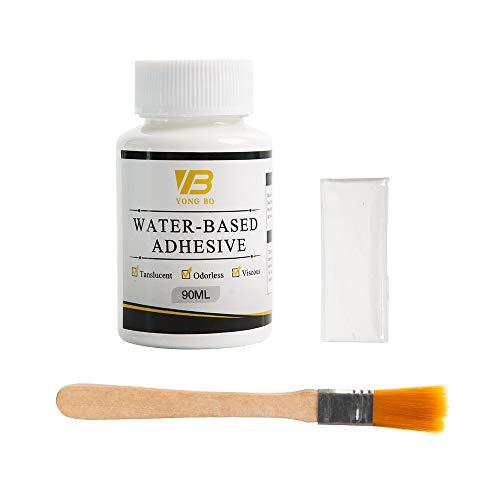 Gold Leaf Adhesive Glue, Epoxy Resin Water Based Metal Leaf Gilding Adhesive for Gold Leaf, Craft, Glass, Wood Use(90 ml + Brush + Gloves)