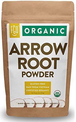 Organic Arrowroot Powder (Flour)   16oz Resealable Kraft Bag (1lb)   100% Raw From Vietnam   by FGO