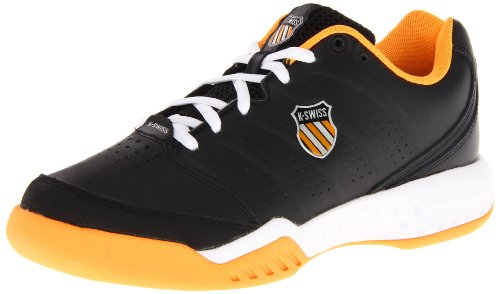 K-Swiss Men's Ultrascendor II Tennis Shoe,Black/Neon Orange/White,6.5 M US