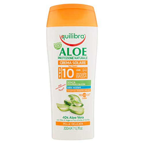Equilibra Aloe Crema Solare Spray Spf 10, 200 ml