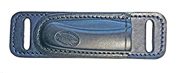 WESTERN IMAGES LEATHERWORKS INC Horizontal Leather Knife Sheath for Buck 110 I m Left Handed Brown or Black Made in The USA  Black Small of Back Carry