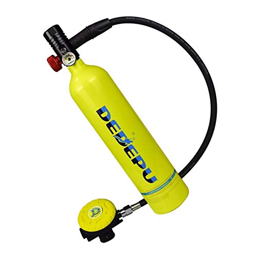 YAOSHI Tanque de Buceo 1L de oxígeno del Tanque del Cilindro de Snorkel Equipo de Buceo Accesorios Aparato de respiración de Buceo de Recarga Adaptador Amarillo-2 Buceo en el mar (Color : Amarillo)