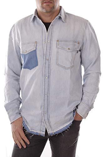 Diesel Herren Hemd Jeanshemd (M, Blau)