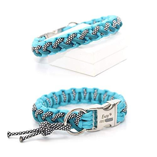 Paracord Halsband - Floating Colors Smal, geeignet für kleine Hunde, wahlweise mit Gravur und weiteren Extras