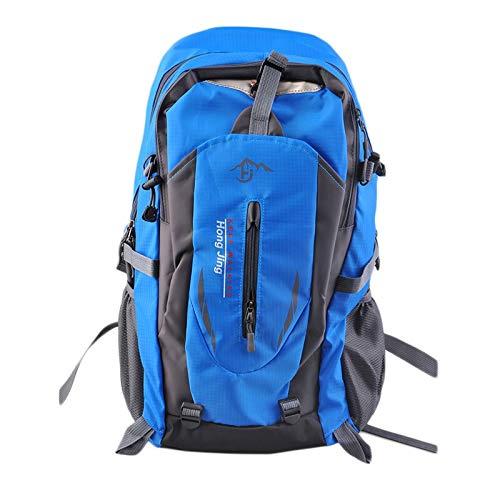 JINSUO Mochila Acampar al Aire Libre del Bolso Que Sube Mochila Bolsas de Deporte Impermeable Alpinismo de los Hombres de Las Mujeres Que va de excursión en Bici Viaje (Color : Azul)