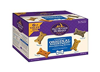 Old Mother Hubbard Classic Original Assortment Biscuits Baked Dog Treats Small 6 Pound Box