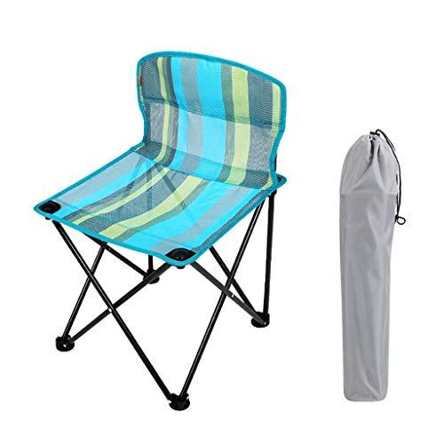 TQJ Silla Plegable Playa Plegable Taburete De Camping Compacta Al Aire Libre Portátil Sillas Muebles De Camping for La Pesca, 2 Colores Sillal Plegable Camping (Color : B)