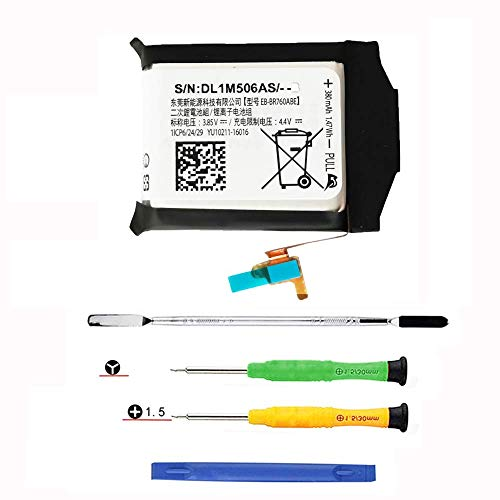 Original Part for Samsung Galaxy Gear S3 Frontier S3 Classic Battery Replacement, SM-R760, SM-R770,R760, R770, BR760, R765 EB-BR760A,EB-BR760ABE, GH43-04699A Battery, with Full Tools (2 Year Warr)