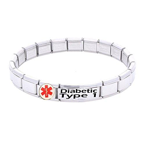 JSC Medical armband roestvrij staal geïdentificeerd in noodgevallen diabetes Type 1 patiënt medisch hulpmiddel verstelbaar eenheidsmaat