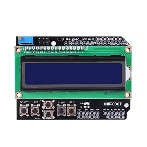 HiLetgo1602 LCD Keypad Shield 1602 LCD Expansion Shield Board Blue Backlight 4.5-5.5V for Arduino Duemilanove Robot