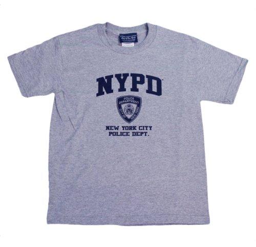 NYC Factory NYPD Kinder-T-Shirt, kurzärmelig, Siebdruck, Grau Gr. Medium, grau