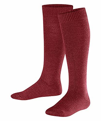 FALKE Unisex Kinder Comfort Wool K KH Socken, Rot (Ruby 8830), 31-34 (7-9 Jahre)