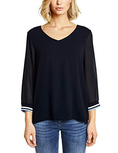 Street One Damen Rafaela Langarmshirt, Blau (Deep Blue), (Herstellergröße:34)