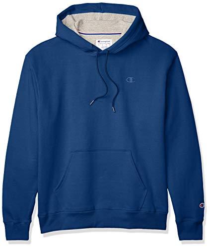 Champion mens Powerblend Fleece Hoodie Hooded Sweatshirt, Regal Navy - Champion C, Large US