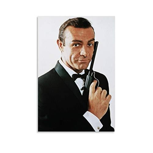 NQSB Film Stars Sean Connery 007 James Bond 15 - Stampa artistica su tela e poster da parete, 60 x 90 cm