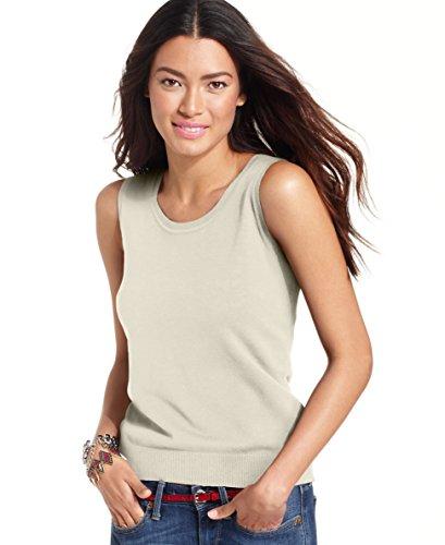 August Silk Womens Silk Blend Layering Sweater Vest Beige XL