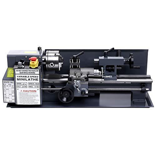 Z ZELUS 550W Drehmaschine Metalldrehmaschine 7 x 14 Zoll / 180 x 350MM Mini Präzisions Metalldrehmaschine 2250 RPM Drehmaschine Precision Mini Metal Lathe Tischdrehmaschine Tischplatte (7 x 14 Zoll)