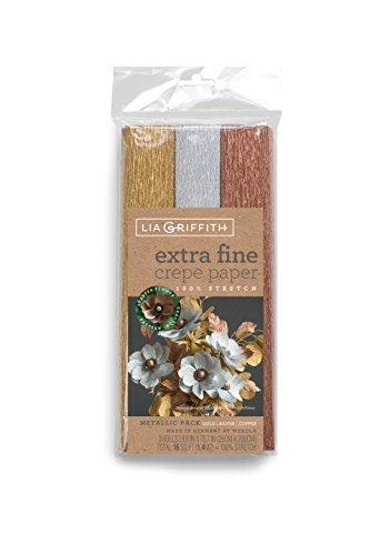 Lia Griffith Extra fine Carta crespa, 3, Assortiti
