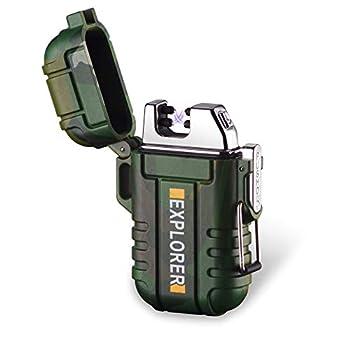 Briquet Électronique Double Arc Cigare USB Briquet Electronique Plasma