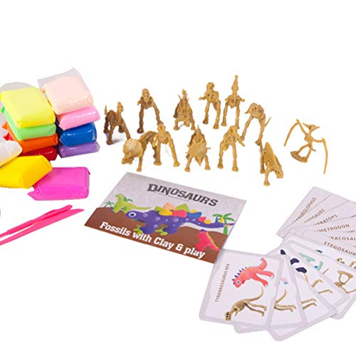 2020 Christmas Decoration Gift, DIY Create Modeling Clay Dinosaurs Figures Game Creativity Dinosaurs Clay Activity Party Supplies Funny Hand-made Color Mud Toys