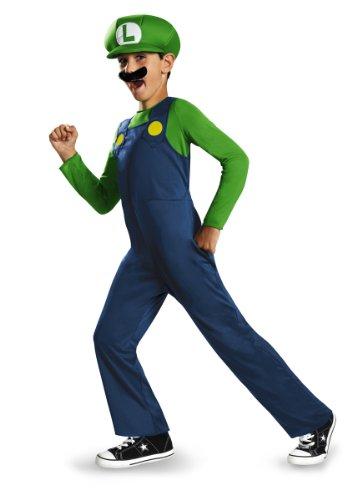Super Mario Bros DISK73692G Kostüm, Jungen, Luigi, Groß