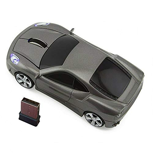 Kamouse Car Shape Wireless Mouse Ergonomic Optical Mice USB 2.4G Mini Receiver for Pc Laptop Notebook Windows 10