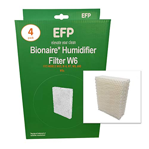 EFP Humidifier Filters for Bionaire W6, W6S, W-6, W7, W9, W9s Model Humidifiers Replacement Wicking Filters | Includes 4 Aftermarket Filters