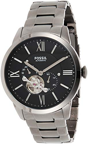 Fossil Herren Analog Automatik Uhr mit Edelstahl Armband ME3172