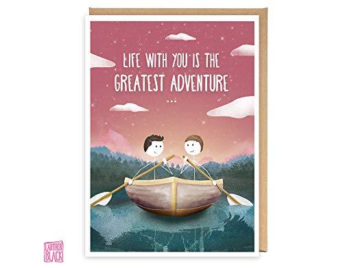 Greatest Adventure - Tarjeta de aniversario LGBT, tarjeta de cumpleaños para marido,...