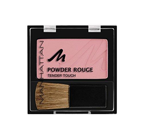 Manhattan Powder Rouge – Rosa Blush mit Puder Textur und beiliegendem Pinsel – Farbe Lovely Rose...