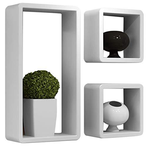 BAKAJI Set 3 Mensole da Parete Moderne Design Rettangolare e...