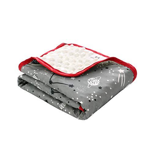 Baby Kinderwagen Decke, Minky Dot Wasserdichter Kinderwagenbezug mit Clips, Einschlagdecke für Babyschale Babytragen Babybett