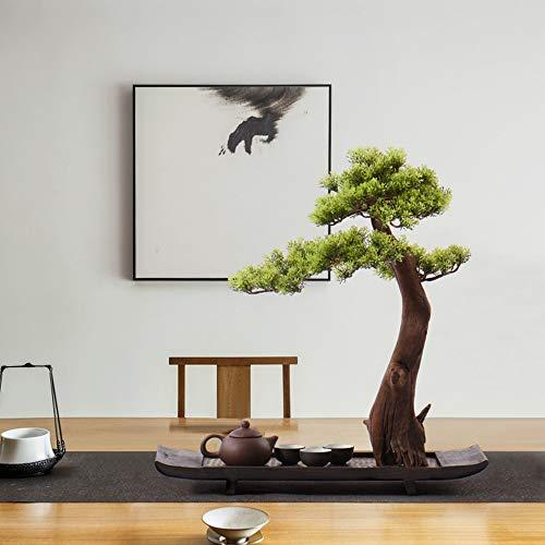 HUANGDAN Neue chinesische Simulation Bonsai Handwerk Beistelltisch Dekoration Moderne Willkommen Kiefern Topf Ornamente