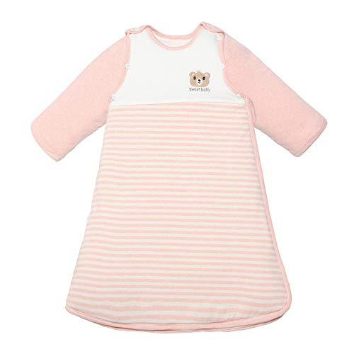 Saco de Dormir para Bebé Algodón suave del bebé del saco de dormir con mangas desmontables cómodo suave invierno Niños Saco de dormir Saco de Dormir para Niños Pequeños ( Color : Gris , Size : XL )