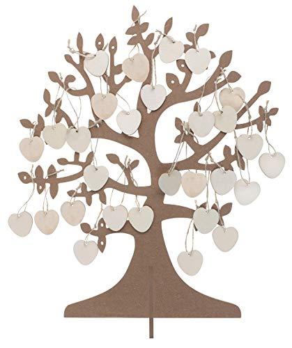 ZauberDeko Aufsteller Tischaufsteller Tischdeko Lebensbaum Geldbaum Wunschbaum Hochzeit Wünsche Herz Hochzeit Geschenk