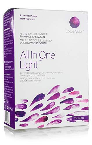 All In One Light – Kontaktlinsen-Pflegemittel – Kombilösung für das Reinigen der Kontaktlinse (2x360ml) - 2