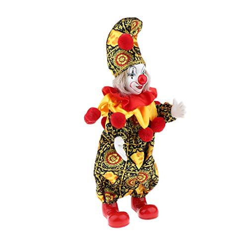 perfeclan Ciondolo in Porcellana retrò Bambola Pagliaccio Bambola Arlecchino Bambola da Collezione Grande Festa Regalo di Compleanno Modello da Collezione, B.