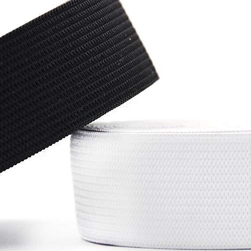 10-50mm 1-5 Meter Wit Zwart Elastische Band DIY Ambachten Broek Naaien Accessoires Stof Spandex Elastische Lint Webbing Kleding 1 meter 35mm white