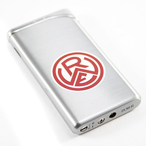 Rot Weiß Essen Metall Feuerzeug silber / Lighter silver RWE