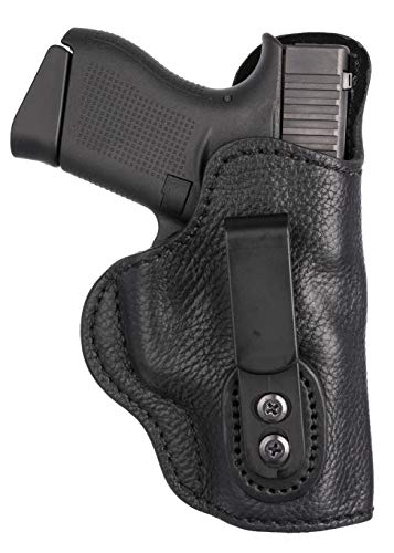 1791 GUNLEATHER Ultra Custom Leather Holster for Glock 43 and Sig P365 - IWB CCW Holster - Memory Lock Right Handed Leather Gun Holster. Fits G43, G42, Ruger LC9, SR22 & 1911 3'