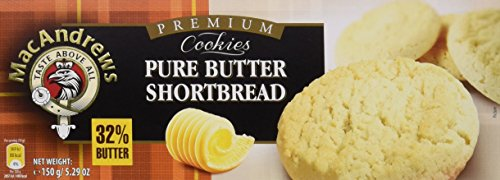 MacAndrews - Butter Hourtbread - Galletas de mantequilla con 32% de manteca - 150 g