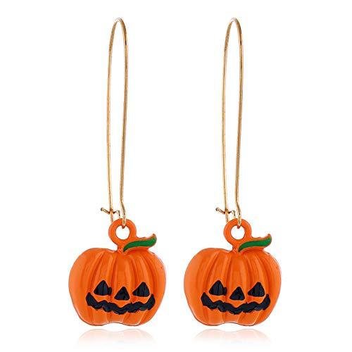 YUY Pendientes Fantasma, Pendientes Creativos de Halloween de Calabaza de Color Caramelo Pendientes
