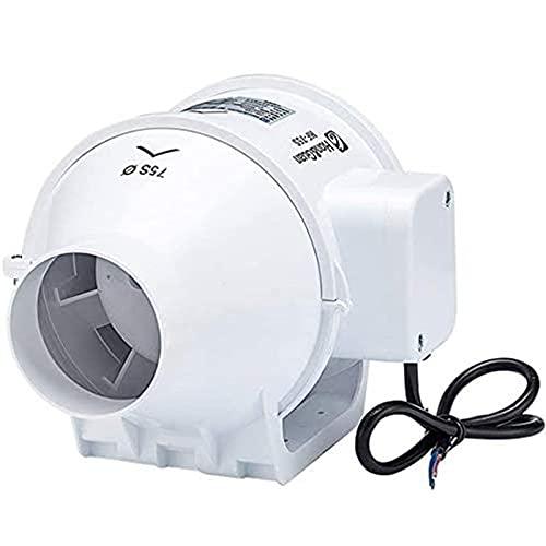 MIAOKU Extractor de Aire Extractor de Aire Silencioso Controlador de Velocidad Variable Baño Silencioso, para Baño, Hidropónicos (3 Pulgadas)