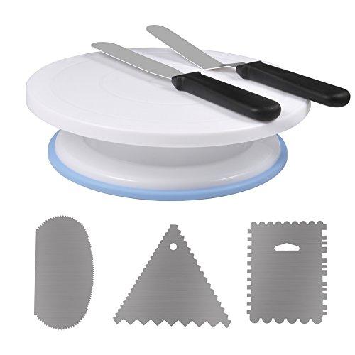 OKBY Placa giratoria para Pasteles - Bandeja giratoria para Decorar Pasteles Soporte Giratorio para Pasteles, Suministros para Hornear con Juegos de decoración