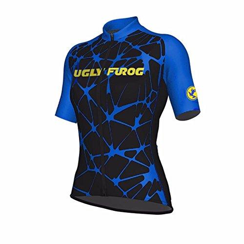 Uglyfrog Designs kurzarmtrikot Damen FahrradausrüstungRadtrikot Schnell Trockend Atmungsaktiv Fahrrad Trikot Kurzarm Full Zipper