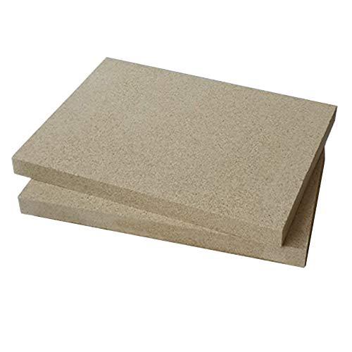 Placas de vermiculita (2 unidades, 400 x 600 mm, 25 mm de grosor)
