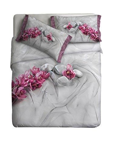 Ipersan Juego Nordico Set Fine Art Impresa fotografica - Asian Color Gris/Rosa 255x240cm