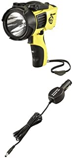 Streamlight Waypoint 1000-Lumens Spotlight with 120-Volt AC Charger, Yellow with Waypoint Rechargeable DC Cord Flashlight