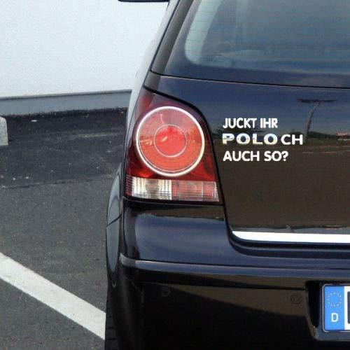 MS Car Sticker Juckt Ihr Polo ch auch so? Fun Aufkleber für VW Polo (Chrome)